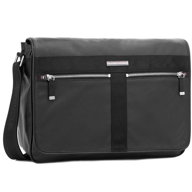b1aae1a2c2e Laptop Bag TOMMY HILFIGER - Darren Messenger W/Flap BM56927273 Black ...