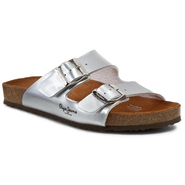 Pepe Jeans OBAN - Mules - silver