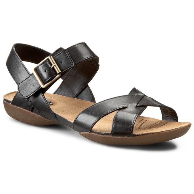 1f996ed78 Sandały CLARKS - Raffi Flower 261065684 Czarny - Casual sandals ...