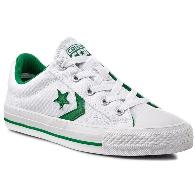 3053cdc703b0ee Sneakers CONVERSE - Star Player Ox 147463C White Green - Casual ...