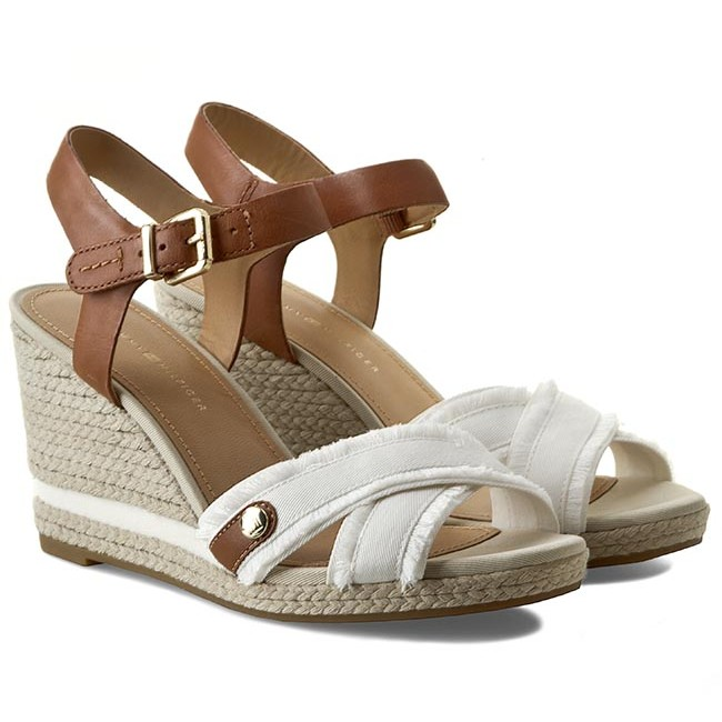 9ad8f309746b Espadrilles TOMMY HILFIGER - Emily 6D FW56818574 Whisper White 121 - Casual  sandals - Sandals - Mules and sandals - Women s shoes - www.efootwear.eu