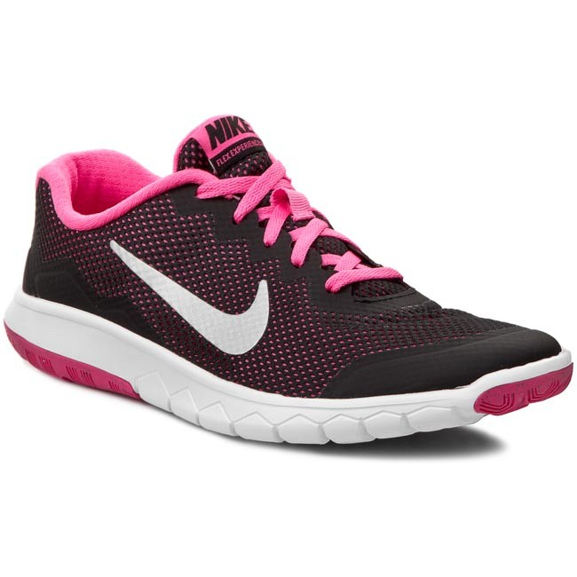 Shoes NIKE. Flex Experience 4 (GS) 749818 001 Black/Metallic Silver/Pink Pow