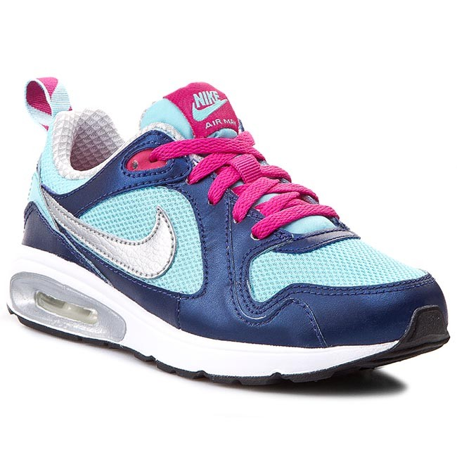 nike childrens air max trax trainers black/pink background