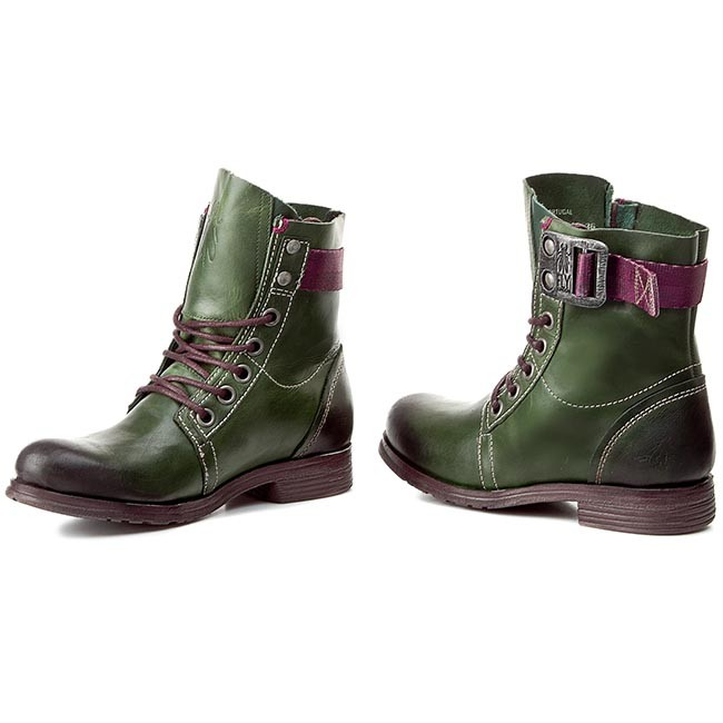 Boots FLY LONDON - Stay P142807012 Green - Boots - High boots and ... 796336fd1d9