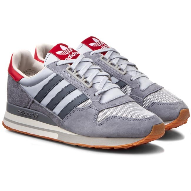 scarpe adidas zx 500 og w s77321 grey / onix / colred scarpe basse