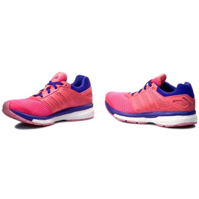 scarpe adidas supernova glide spinta 7 w b33608 rosa minimalista