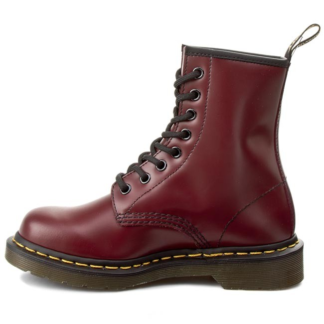 0f9a05fa6cf Combat Boots DR. MARTENS - 1460 10072600 Cherry Red Smooth - Combat boots -  High boots and others - Women's shoes - www.efootwear.eu