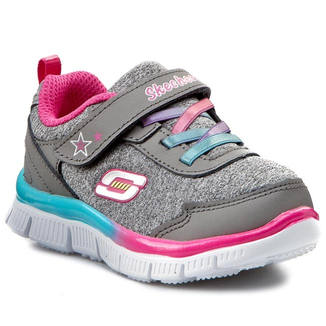 Skechers Skech Appeal Lil Flyer Kids Gray Athletic Shoes