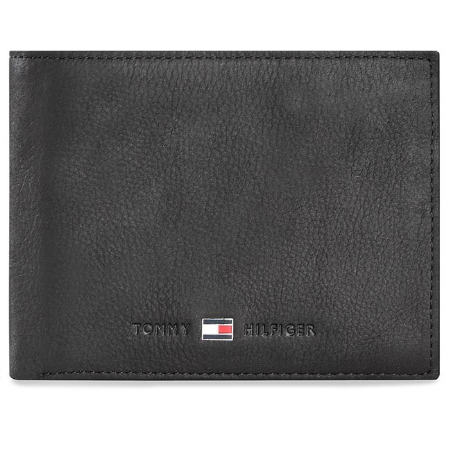 Large Men's Wallet TOMMY HILFIGER - Johnson Cc Flap And Coin Pocket  AM0AM00660 Black 002