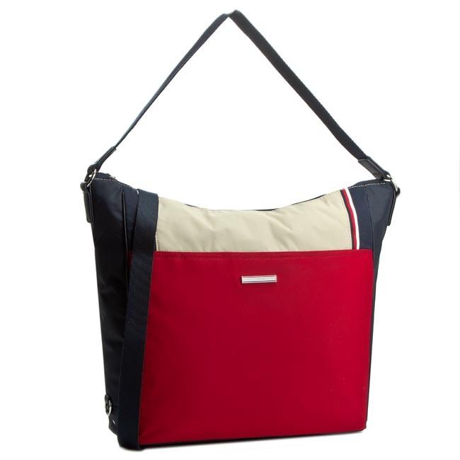 7654e073c Handbag TOMMY HILFIGER - Pamela Hobo/Backpack AW0AW00559 Midnight ...