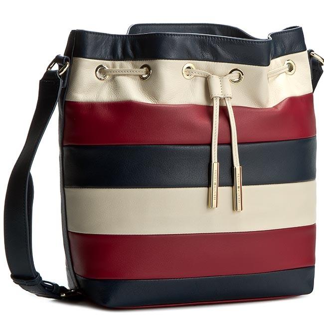 b596c32413 Handbag TOMMY HILFIGER. Day Chick Bucket RWB Stripe AW0AW02012 Midnight/Scooter  ...