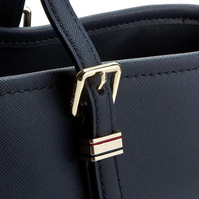 53c596383b67f Handbag TOMMY HILFIGER - Honey Med Tote AW0AW03198 001 - Classic ...