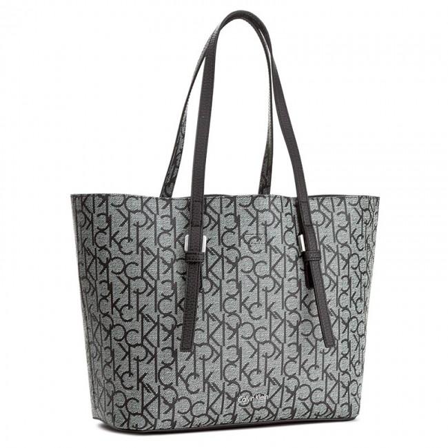 Handbag CALVIN KLEIN - Ck Medium Tote Monog K60K603658 005 - Classic ... 0ad1b6e3515