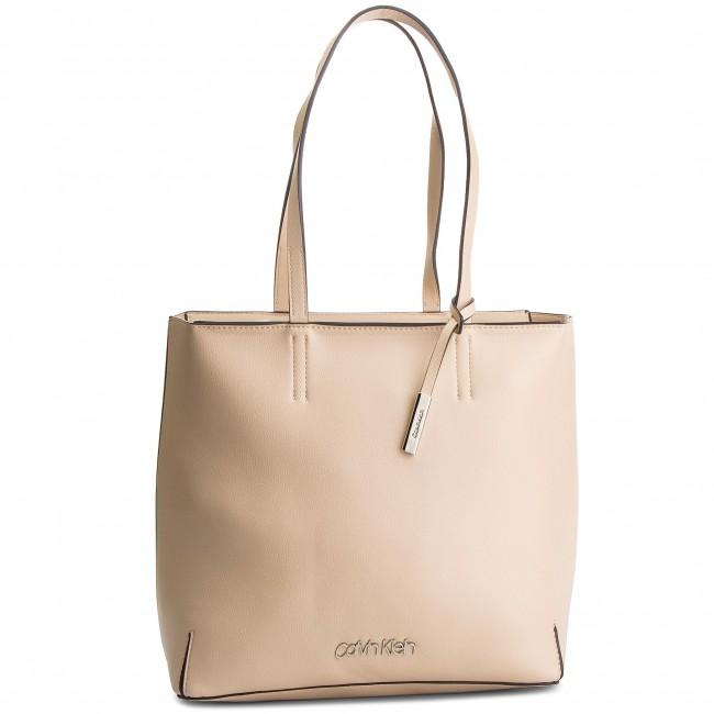 Handbag K60k604844 Canvas Ew Calvin Stitch Klein Shopper 638 vvzfR8U