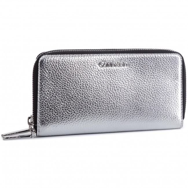 Large Womens Wallet Calvin Klein Ck Must Lrg Bdl Zip Around Met