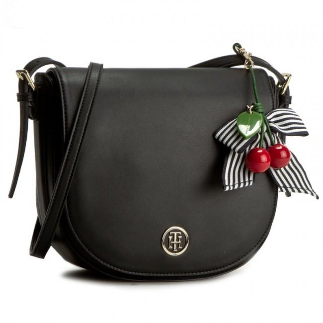 09f6ece0542bd Handbag TOMMY HILFIGER - Cherry Saddle Bag AW0AW03820 901 - Cross ...