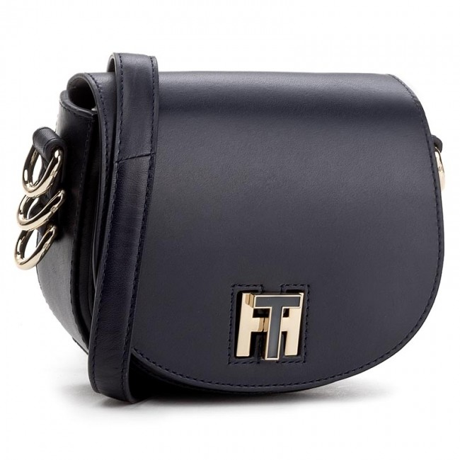 Handbag TOMMY HILFIGER - TH Twist Leather Mini Crossover AW0AW03698 Navy 413 6a9f4e0553