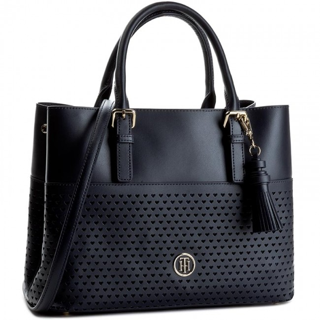 Handbag TOMMY HILFIGER. Summer Of Love Small Tote Perf AW0AW03939 Tommy  Navy 413 f18d48ec52b