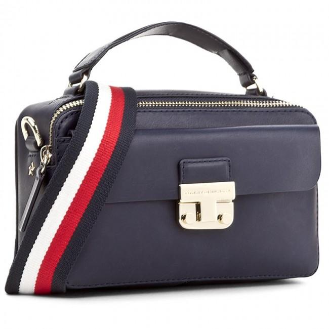 44f301f79cff Handbag TOMMY HILFIGER. Fashion Hardware Leather Mini Crossover AW0AW04291  413