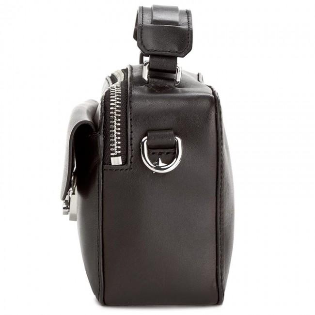 7b15e063edfa Handbag TOMMY HILFIGER - Fashion Hardware Leather Mini Crossover AW0AW04291  002