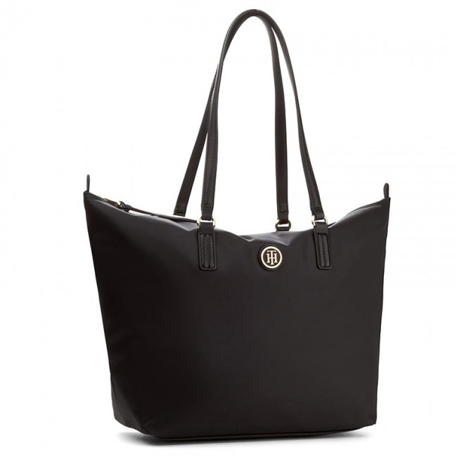 ceffdca5d0410 Handbag TOMMY HILFIGER - Poppy Tote AW0AW04302 002 - Canvas Totes ...