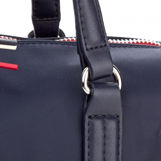 Handbag TOMMY HILFIGER - Poppy Small Tote AW0AW04361 413 - Classic ... ae5be0f4a4e