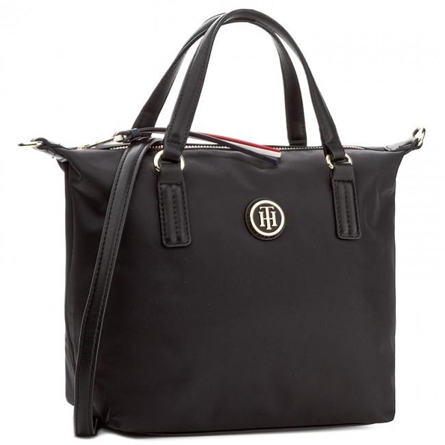 Handbag TOMMY HILFIGER - Poppy Small Tote AW0AW04361 002 - Classic ... f1d90c96e01