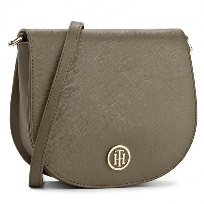 9faedae126 Handbag TOMMY HILFIGER - Honey Saddle Bag AW0AW04640 310 - Cross ...