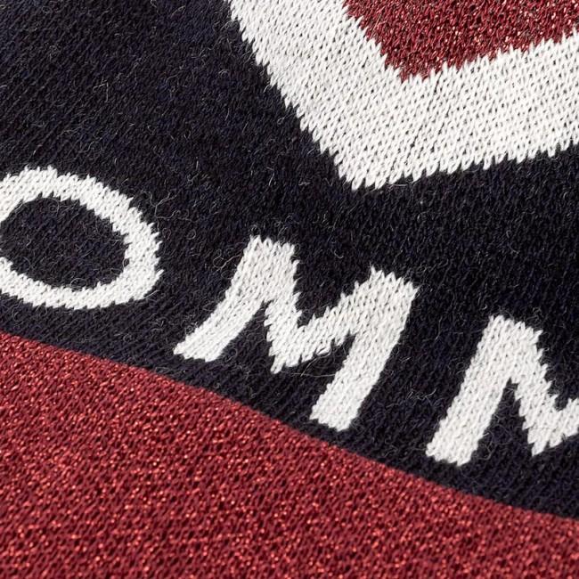 Women s Cap TOMMY HILFIGER - DENIM Tommy Chevron Pom Pom Beanie AW0AW04275  413 3cc6cd022c85