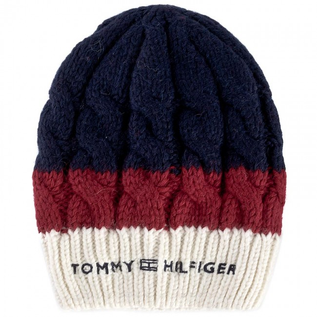 Women s Cap TOMMY HILFIGER - Chunky Cable Beanie AW0AW04401 901 ... 7ea518cb9e6