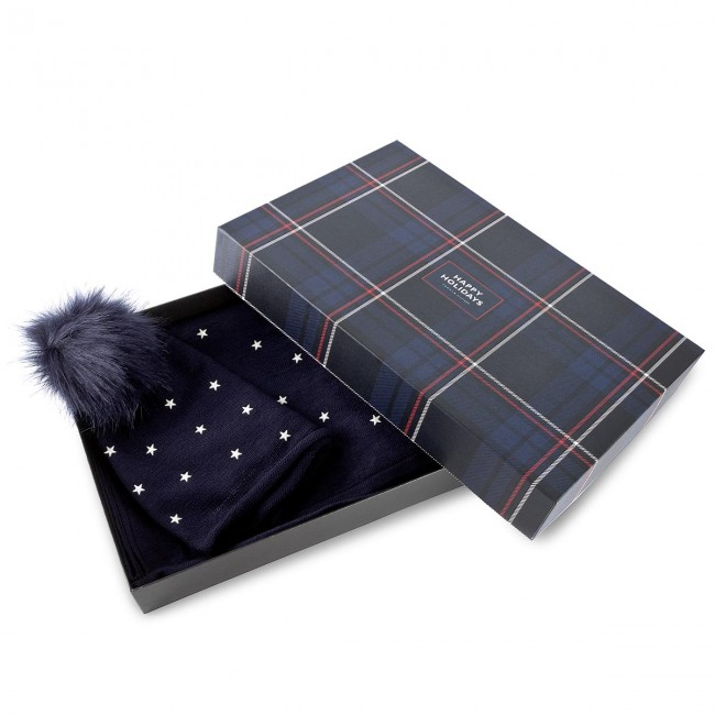 Set Scarf + Cap TOMMY HILFIGER. Stars Craft   Beanie Holiday Giftpack  AW0AW04813 413 f7247845fbc