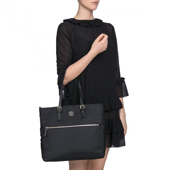 0deae75b1eb Handbag TOMMY HILFIGER - Chic Nylon Tote AW0AW04842 002 - Canvas Totes &  Shoppers - Handbags - www.efootwear.eu
