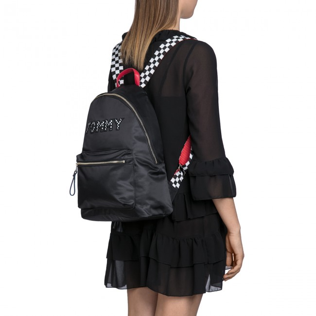 03d2416a5fed Backpack TOMMY HILFIGER - Poppy Backpack Tommy Print AW0AW05084 904 -  Notebook bags and backpacks - Leather goods - Accessories - www.efootwear.eu