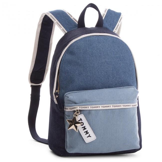 baf74d9da48 Backpack TOMMY HILFIGER. Th Logo Tape Mini Backpack Denim AW0AW05086 901