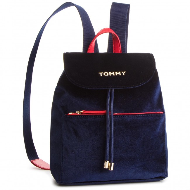 6011f6a6 Backpack TOMMY HILFIGER - Cool Tommy Backpack Velvet AW0AW06254 413 ...