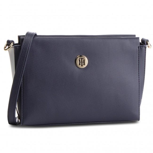 Handbag TOMMY HILFIGER - Effortless Saffiano Xover AW0AW06306 901 ... 7b1bd418c0d5