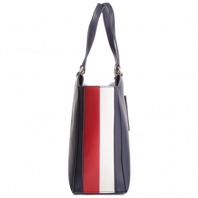 0abe63efe78 Handbag TOMMY HILFIGER - Effortless Safiano Ew Tote AW0AW06375 901 - Canvas  Totes & Shoppers - Handbags - www.efootwear.eu