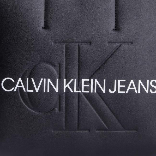 Handbag CALVIN KLEIN JEANS Sculpted Monogram Mini Tote K60K605522 001