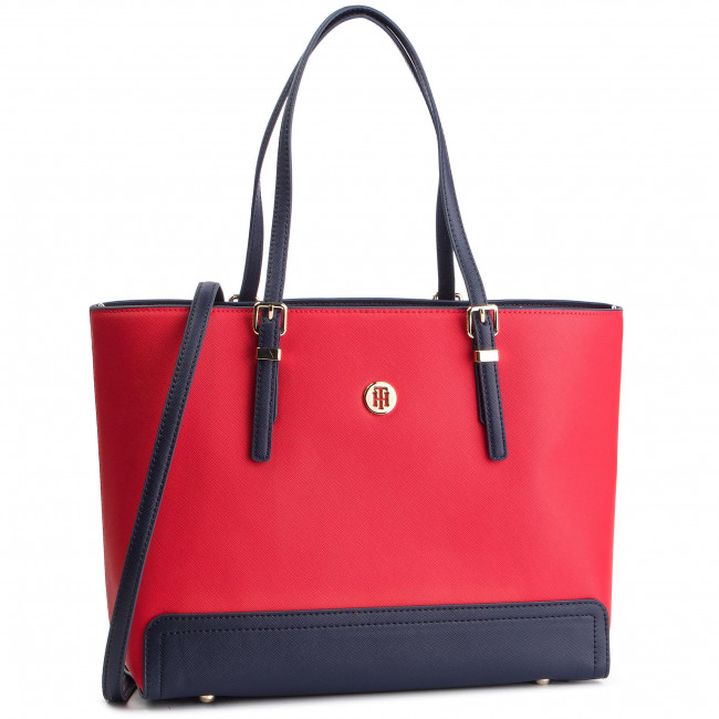 c803a0194b4c Handbag TOMMY HILFIGER - Honey Med Tote AW0AW06468 614 - Canvas ...