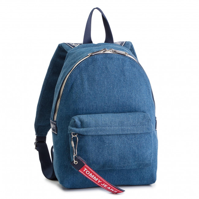 f8e76d799ca Backpack TOMMY JEANS - Tju Logo Tape Mini Backpack Denim AU0AU00673 ...