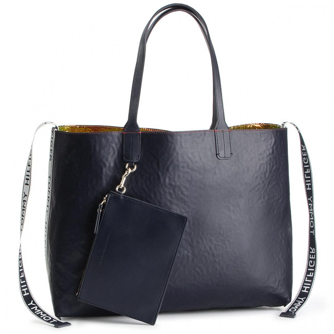 Handbag TOMMY HILFIGER Iconic Tommy Tote Irri AW0AW07083 901