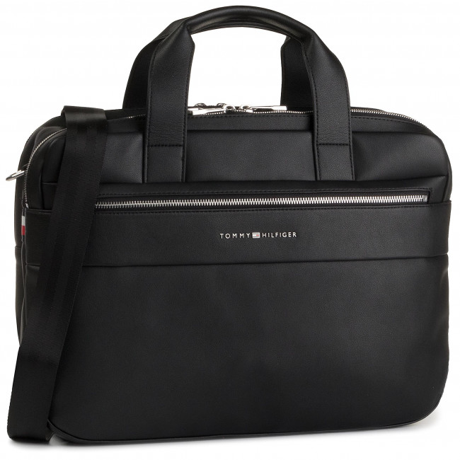 tommy hilfiger laptop bags leather