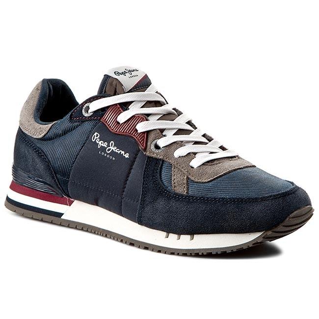 Sneakers PEPE JEANS - Tinker Basic PMS30147 Marine 585 - Sneakers ... c772bda02e