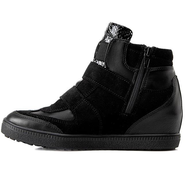 Sneakers GEOX D Amaranth H. B D52S9B 022BC C9999 Black