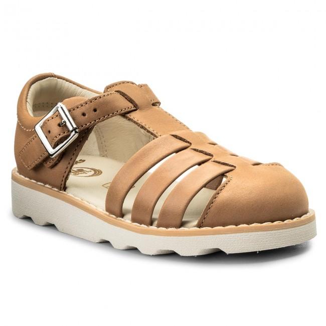 eeb80943a3d Sandals CLARKS - Crown Stem 261334617 Tan Leather - Sandals - Clogs ...