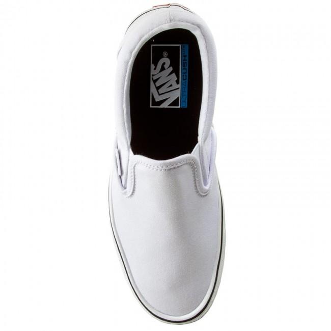 7025a2e9173a Plimsolls VANS - Slip-On Lite + VN0004PEL5R (canvas) True White - Sneakers  - Low shoes - Women's shoes - www.efootwear.eu