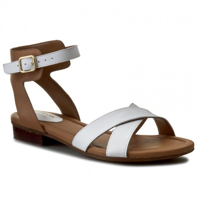 fdd69767c413 Sandals CLARKS - Viveca Zeal 261084104 White Leather - Casual ...