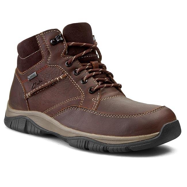 Trekker Boots CLARKS - RampartMid GTX 261025127 Brown Wlined Lea