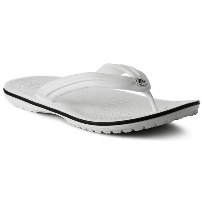 9f14ecc1726 Slides CROCS - Crocband Flip 11033 White - Flip-flops - Mules and ...