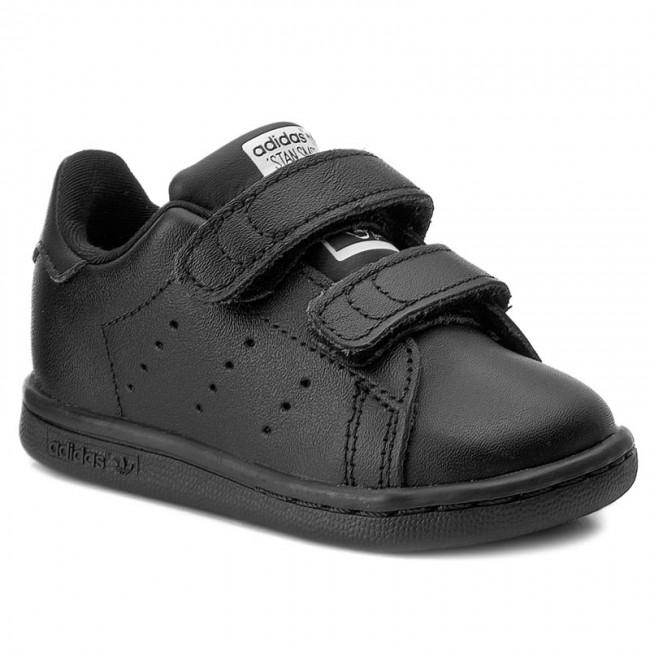 scarpe adidas stan smith di mi bz0524 cblack / cblack / ftwwht velcro
